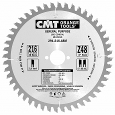 CMT 291.216.48M 216x30mm 48T Univ Saw Blade