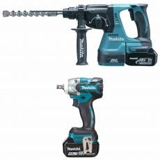 MAKITA DLX2268TJ 18v DHR242/DTW285 Twin Pack with 2x5ah batteries
