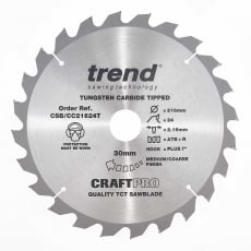 TREND CSB/CC21624T 216x30mm 24T Craft Saw Blade