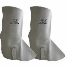 LEOPARD K021 Leather Spats per pair (GREY)