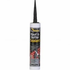 EVERBUILD Roof and Gutter Sealant 295ml - Black