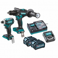MAKITA DK0114G202 40v HP001/TD001 Twin Pack with 2x2.5ah Batteries