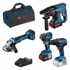 BOSCH LBAG43 18v 4 piece Combo Kit with 3x4ah Batteries