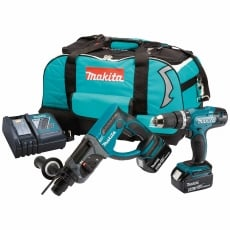 MAKITA DLX2025T 18v DHR202/DHP453 Twin Pack with 2x5ah Batteries