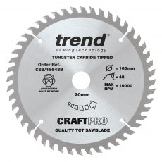 TREND CSB/165/3PK/A 165mm Craft Saw Blade 3pk