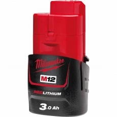MILWAUKEE M12B3 M12 3ah Red Lithium-Ion Battery