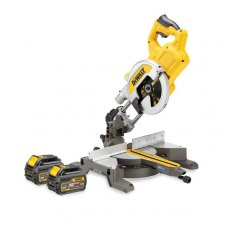 DEWALT DCS777T2 54v Flexvolt 216mm Mitre Saw with 2x6ah Batteries