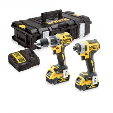 DEWALT DCK2500P2B 18v Bluetooth Brushless Twin Pack with 2x5ah Batteries