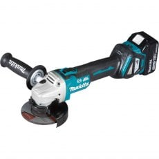 MAKITA DGA463RTJ 18v Brushless 115mm Grinder with 2x5ah Batteries