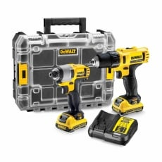 DEWALT DCK211D2T 10.8v Drill Driver and Impact Driver Kit with 2x2ah Batteries