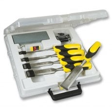 STANLEY 5 16 421 5 Piece Dynagrip Strike Cap Chisel Set + Accessories