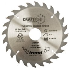 TREND CSB/19024 190mm x 30mm 24T Craft Saw Blade