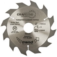 TREND CSB/19012 190mm x 30mm 12T Craft Saw Blade