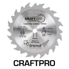 TREND CSB/19040TB 190mm x 30mm 40T Craft Saw Blade