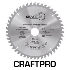 TREND CSB/CC19060 190mm x 30mm 60T Craft Saw Blade
