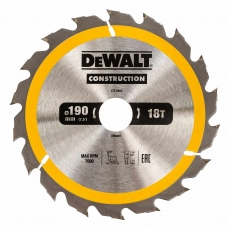 DEWALT DT1943 190x30mm 18T Cons Circ Saw Blade AC