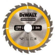 DEWALT DT1944 190x30mm 24T Cons Circ Saw Blade AC