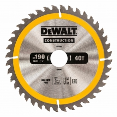 DEWALT DT1945 190x30mm 40T Cons Circ Saw Blade AC