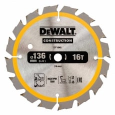 DEWALT DT1946 136x10mm 16T Cons Circ Saw Blade DC