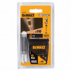 DEWALT DT70618TQZ 16 Piece Extreme PZ2 Screwdriving Set
