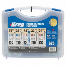 KREG SK03-INT Pocket Hole Screws, 5 Types 675pk