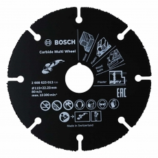 BOSCH 2608623012 115mm x22.23mm Multi Carbide Wheel