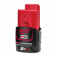 MILWAUKEE M12B2 M12 12v 2ah Red Lithium-Ion Battery